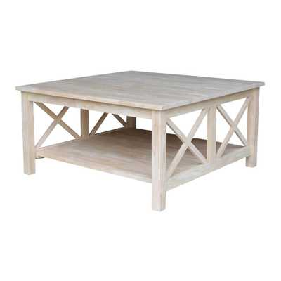 Hampton Unfinished Coffee Table - Home Depot