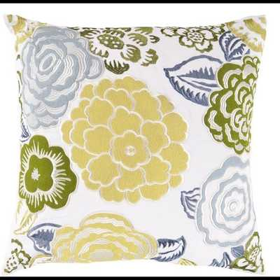 Botanical 18x18 Pillow Cover with Poly Insert - Neva Home
