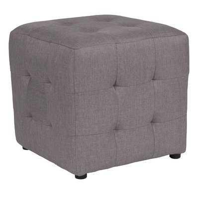 Rayl Tufted Upholstered Cube Ottoman - Wayfair