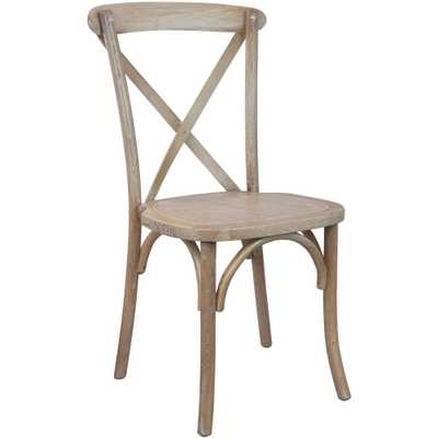Driftwood (Brown) X-Back Chair - Home Depot