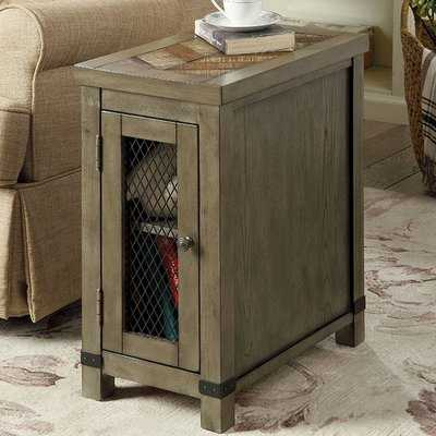 Zilla Rustic End Table with Storage - Wayfair