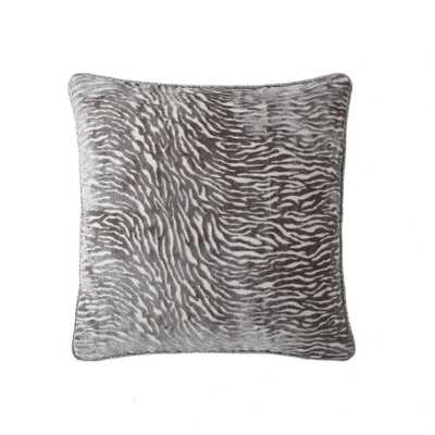 Morgan Home 18 in. Zoey Silver Zebra Throw Pillow Cover - Home Depot