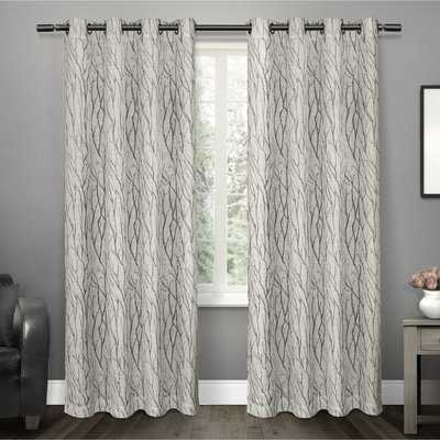 Oakdale Nature/Floral Sheer Grommet Curtain Panels set of 2 - AllModern
