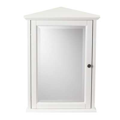 Home Decorators Collection Hamilton 20 in. W x 27 in. H Surface-Mount Corner Wall Medicine Cabinet in Ivory, White - Home Depot