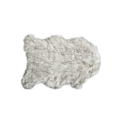 Lifestyle Group Distribution Gordon Gradient Gray 2 ft. x 3 ft. Faux Sheepskin Indoor Rug - Home Depot