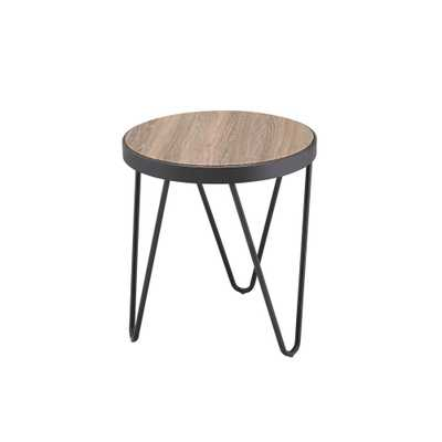 Bage Weathered Gray Oak End Table - Home Depot