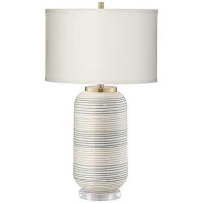 Striped Adler Multi-Color Ceramic Table Lamp - Style # 55V01 - Lamps Plus