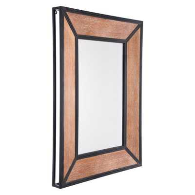Balc Metal Antique Wall Mirror - Home Depot