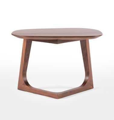 Chevron Walnut Side Table - Rejuvenation