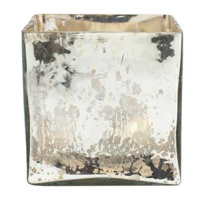 Elderen Mercury Glass Cube Vase - Wayfair