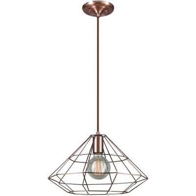 Globe Electric Mahek 1-Light Copper Wire Cage Pendant - Home Depot