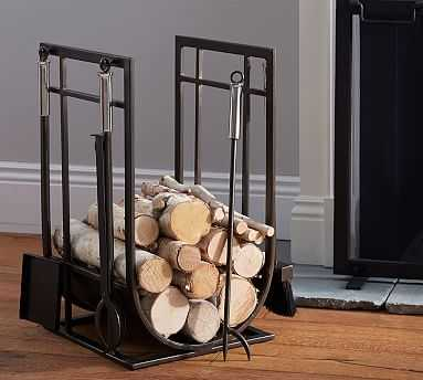 Taylor Log Holder & Tool Set - Pottery Barn