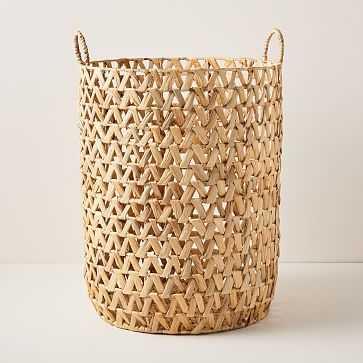 Open Weave ZigZag Baskets, Hamper - West Elm