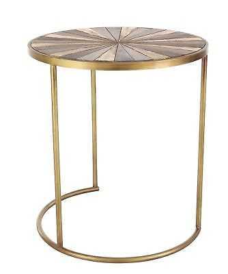 Cole & Grey 3 Piece Metal/Wood End Table Set - eBay