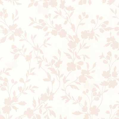 56.4 sq. ft. Layla Rose Floral Trail Silhouette Wallpaper, Pink - Home Depot