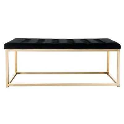 Safavieh Reynolds Black/ Brass Glam Bench - eBay