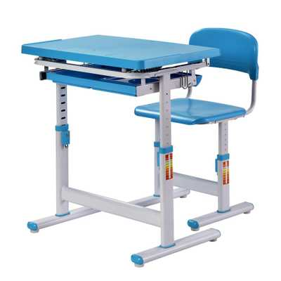 2-Piece Blue Ergonomic Adjustable Kids Standing Desk and Chair - Home Depot