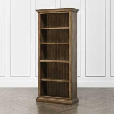 Cameo Nero Noce Open Bookcase with Full Crown- Colour: Nero Noche - Crate and Barrel