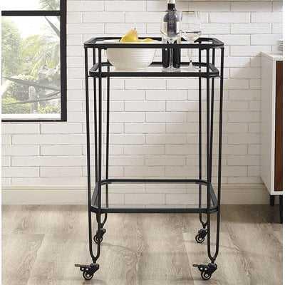Gainey Metal and Glass Bar Cart - AllModern