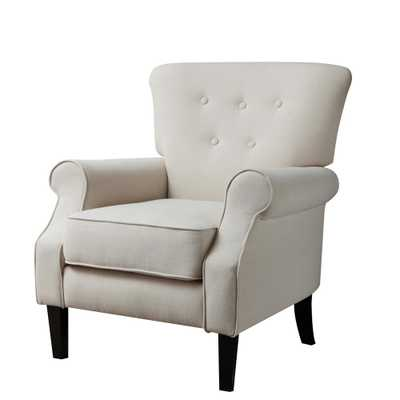 Festival Trading Cream Beige Upholstery Arm Chair - Home Depot