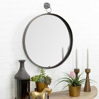Della Suspended Round Wall Mirror - Wayfair