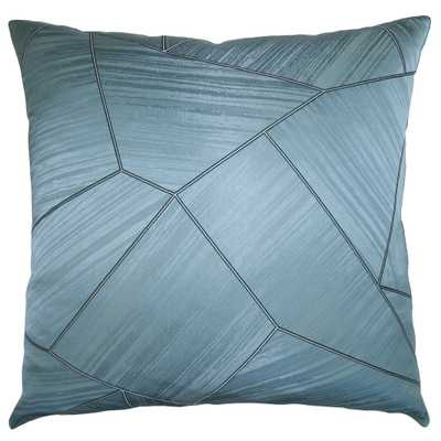 CARNIVAL TEAL 26X26 PILLOW - Square Feathers