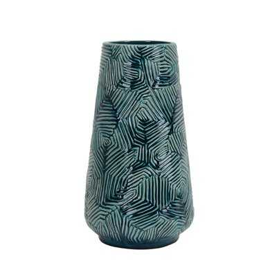 Teal Decorative Ceramic Table Vase - Wayfair