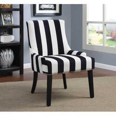 Aicha Stripe Parsons Chair - Wayfair