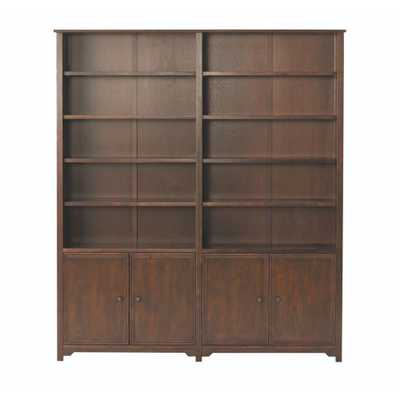 Oxford Chestnut (Brown) Storage Open Bookcase - Home Depot