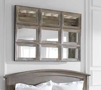 Aiden Xl Wall Mirror, 9 Pane - Pottery Barn