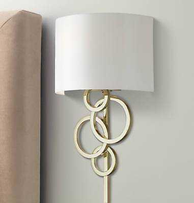 Possini Euro Design Circles Polished Brass Plug-In Wall Lamp - eBay