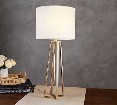 Carter Table Lamp with Shade, Champange Brass - Pottery Barn