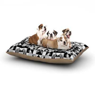 Nika Martinez 'Geometrie Black & White' Dog Pillow with Fleece Cozy Top - Wayfair