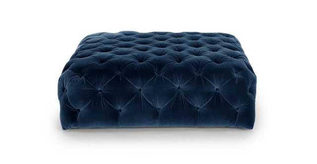 Diamond Cascadia Blue Ottoman - Article