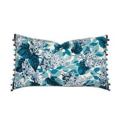 Lacecap Floral Print Lumbar Pillow - Wayfair