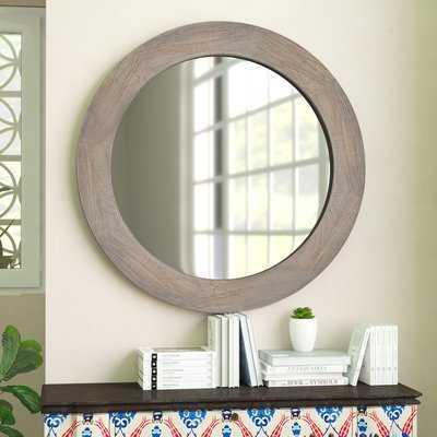 Salma Modern Round Accent Mirror - Wayfair