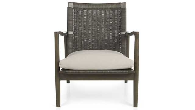 Sebago Chair with Fabric Cushion - Crate and Barrel