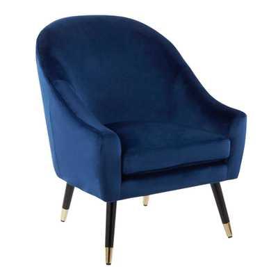 Matisse Blue Velvet Accent Chair - Home Depot