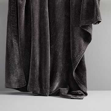 Luxe Chenille Throw, Gray - West Elm