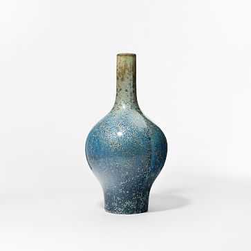 """Reactive Glaze Vase, Light Blue, Large, 19"""" - West Elm"""