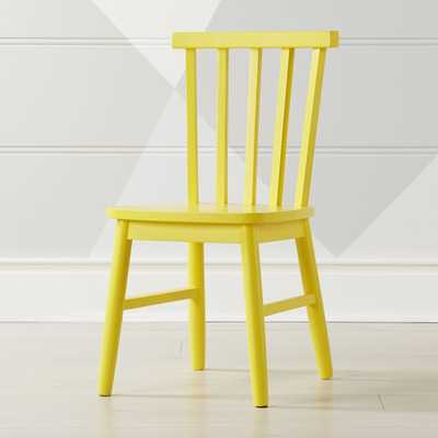 Shore Yellow Kids Chair - Crate and Barrel