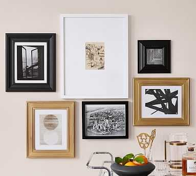 Gallery In A Box - Gold, Black & White - Set of 6 - Pottery Barn
