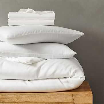 TENCEL Bedding Set, Stone White, King - West Elm