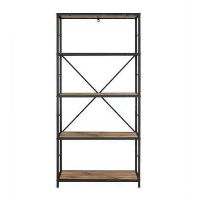 Barnwood Open Bookcase - Home Depot