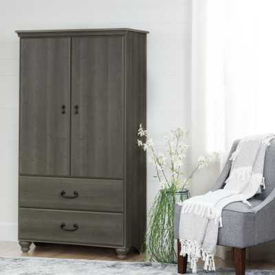 Noble Gray Maple Armoire - Home Depot