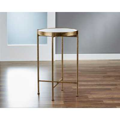 Small Gild Pop Up White Tray Table - Home Depot