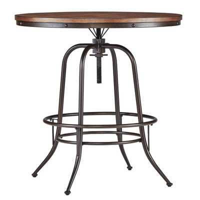 Olson Brown Adjustable Pub/Bar Table - Home Depot