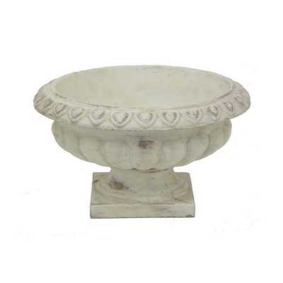 Footed Urn, White - Home Depot