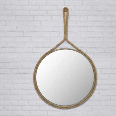 40 in. x 25 in. Rope Framed Wall Mirror - Home Depot