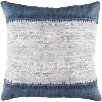 """Sariah Pillow Cover, 20""""x 20"""", Navy - Cove Goods"""